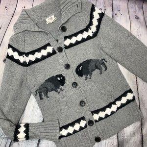 Ruff Hewn Buffalo Knit Cowichan Style Cardigan